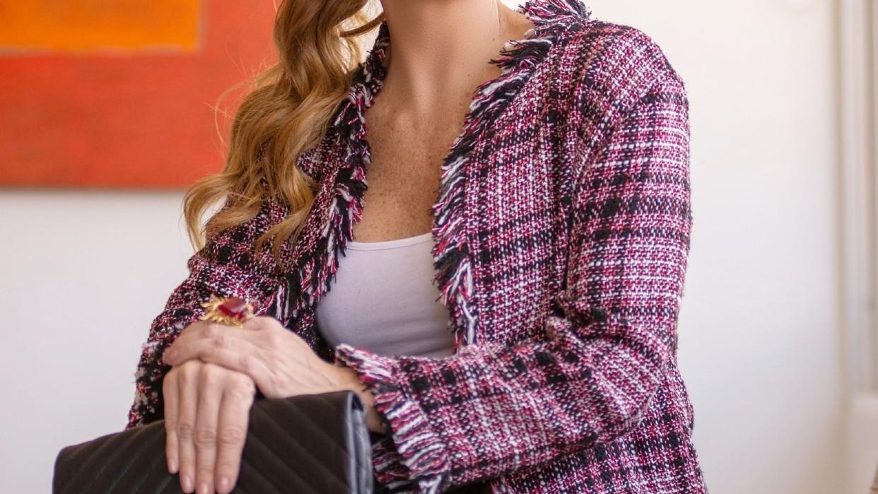 Hermosas chaquetas Tweeds con flequillos deshilachados