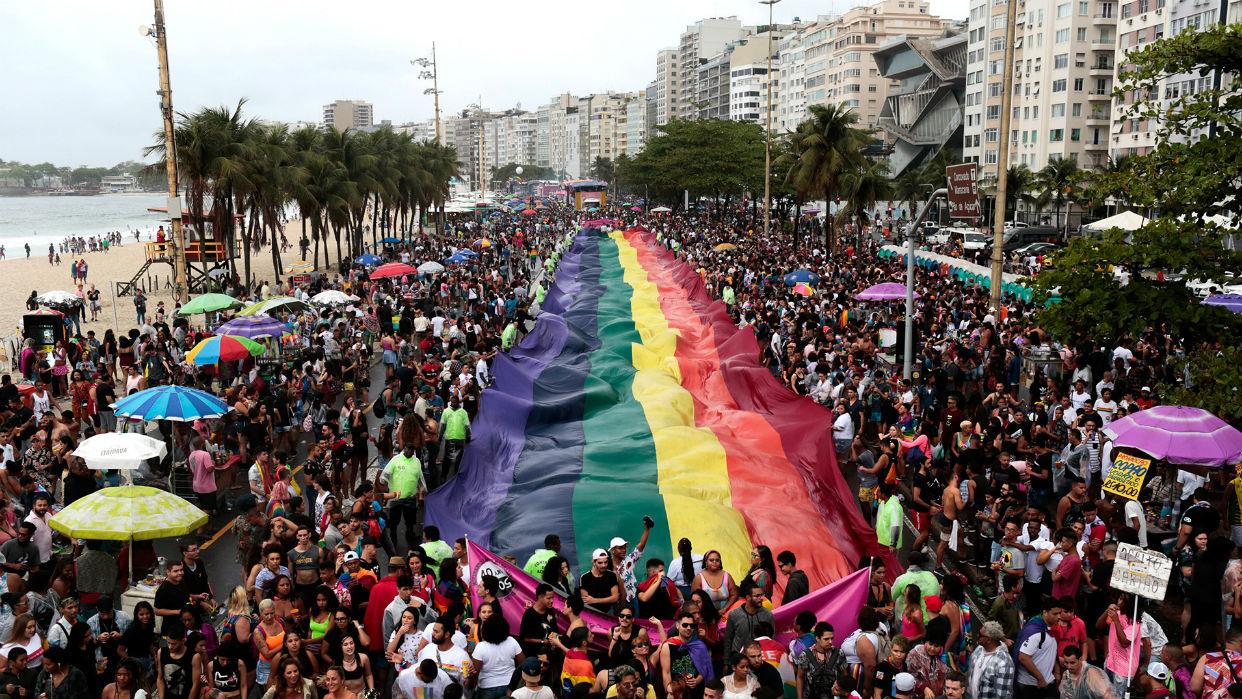 La marcha del Orgullo Gay de 2019, en Copacabana / Foto Reuters