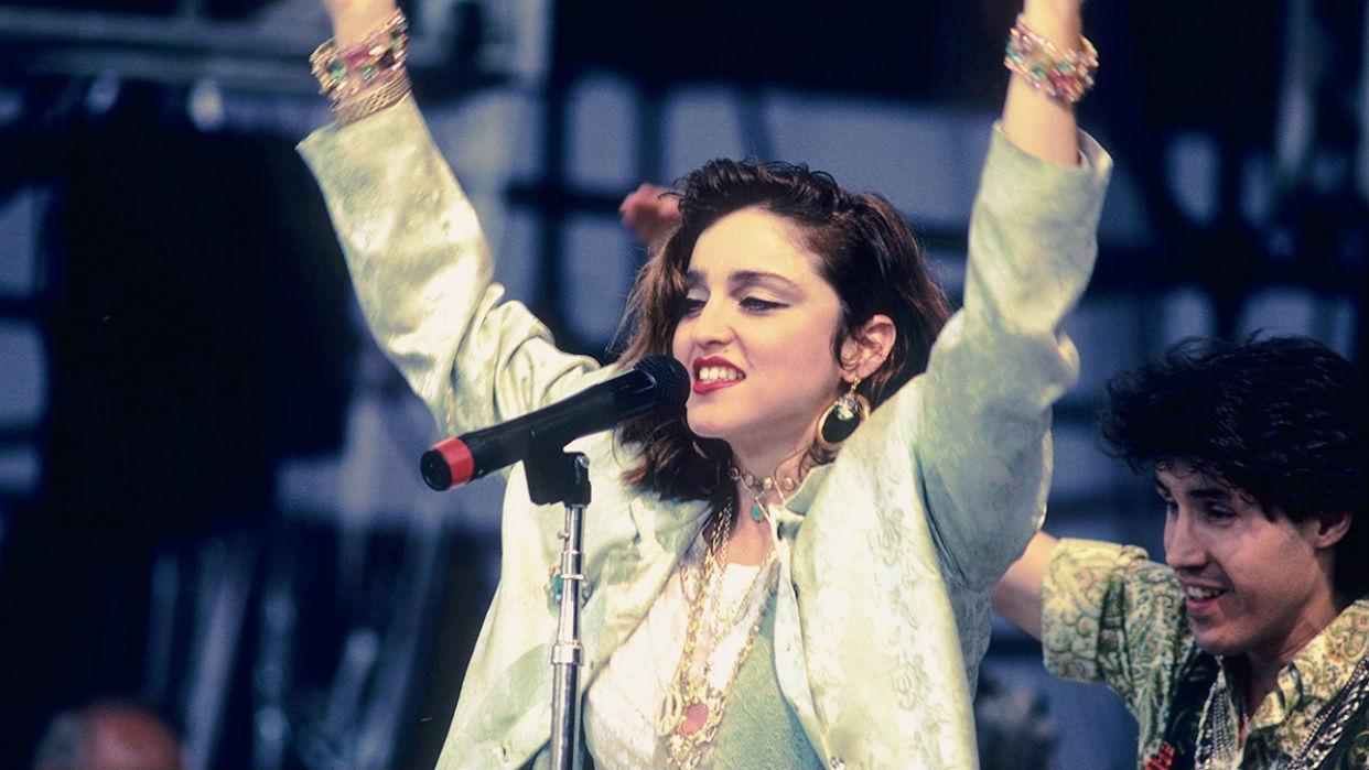 Una jovencísima Madonna se presentó en el concierto de Filadelfia