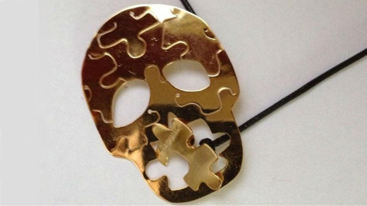 Calaveras y rompecabezas son emblemáticos para @giammarco.joyas