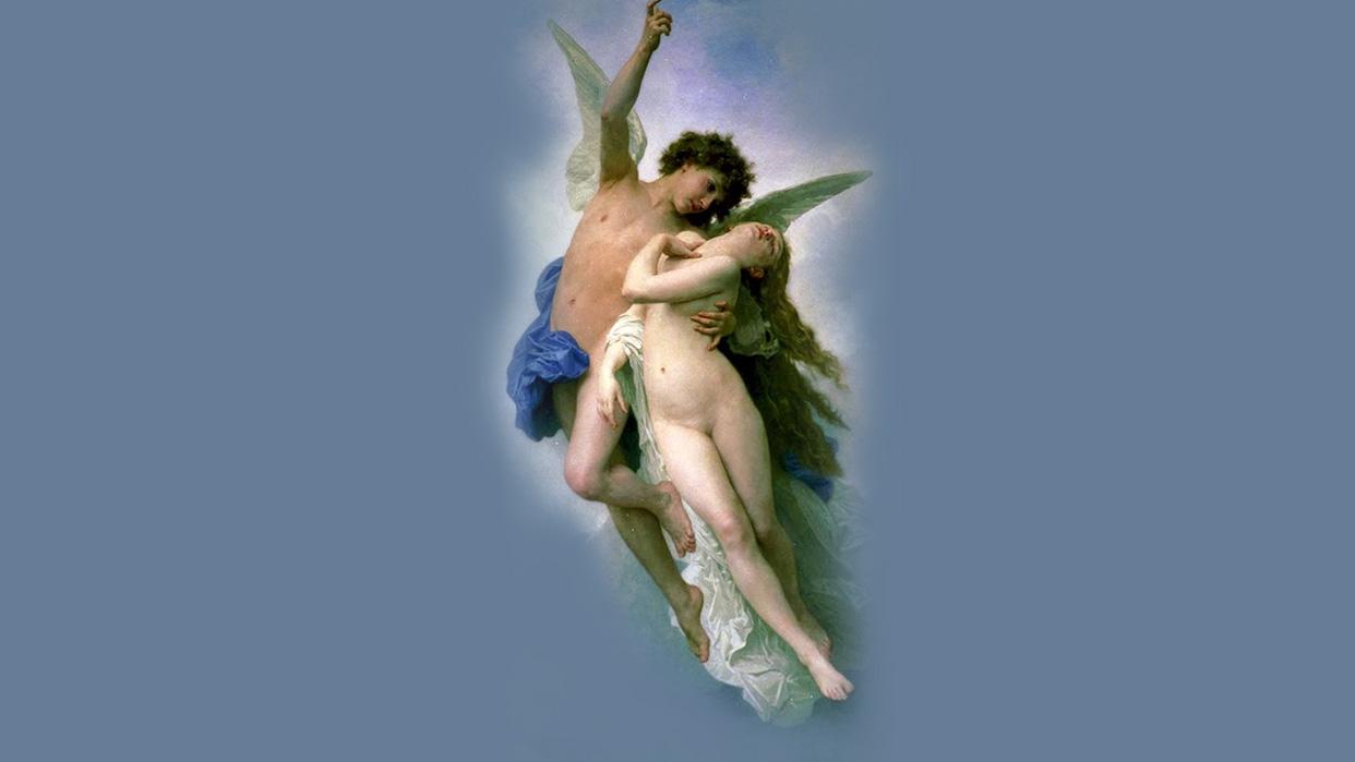 Psyche et lamour Cupido y Psique de William Adolphe Bourguereau (1889)